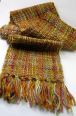 Lotsaknots scarf hand woven using hand dyed wool/mohair